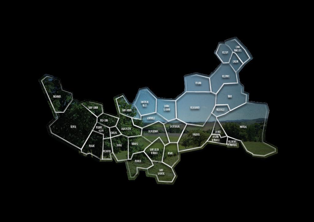 Carte de la communauté de communes